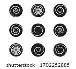 spiral and swirl motion... | Shutterstock .eps vector #1702252885