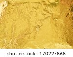 shiny yellow gold foil abstract ... | Shutterstock . vector #170227868