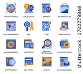 seo icons set in flat style....