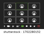 video call conference icons... | Shutterstock .eps vector #1702280152