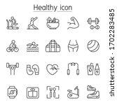 fitness   health icon set in... | Shutterstock .eps vector #1702283485