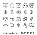 simple set of web icons in...