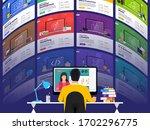 illustrations flat design... | Shutterstock .eps vector #1702296775