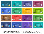 illustrations flat design... | Shutterstock .eps vector #1702296778
