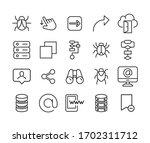 web line icons set. stroke...