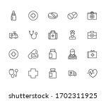 emergency line icons set.... | Shutterstock .eps vector #1702311925