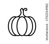 vector line icon for pumpkin | Shutterstock .eps vector #1702314982