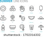 set of summer icons  hot  ice... | Shutterstock .eps vector #1702316332