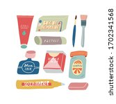colorful illustration set in... | Shutterstock .eps vector #1702341568