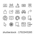 modern thin line icons set of...