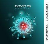 novel coronavirus  2019 ncov .... | Shutterstock .eps vector #1702358065
