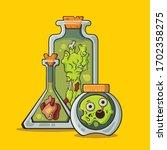 zombies in glass jars halloween ...