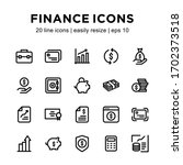 set of financial line icon ...