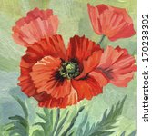 Hand Painting Acrylic Poppies....