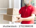 Asian Postman  Deliveryman...
