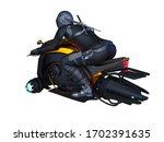 3d rendering of speeder bike | Shutterstock . vector #1702391635