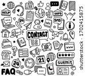 set of vector doodle element... | Shutterstock .eps vector #1702415875