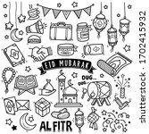 set of vector doodle element... | Shutterstock .eps vector #1702415932