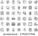 editable thin line isolated... | Shutterstock .eps vector #1702417948