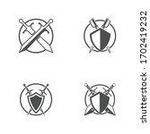 sword weapon vector logo    Shutterstock .eps vector #1702419232
