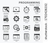 programming icon set. software  ... | Shutterstock .eps vector #1702428232