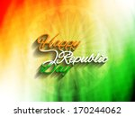 elegant indian flag theme... | Shutterstock .eps vector #170244062