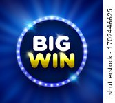 big win round banner with... | Shutterstock .eps vector #1702446625
