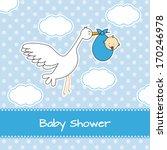 baby boy arrival announcement... | Shutterstock .eps vector #170246978
