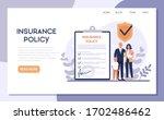 insurance web banner. idea of... | Shutterstock .eps vector #1702486462