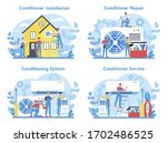air conditioning repair and...   Shutterstock .eps vector #1702486525