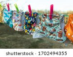 Cloth Diapers Dry In The Sun On ...