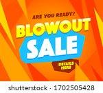 blowout sale banner template.... | Shutterstock .eps vector #1702505428