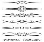 vintage vignettes calligraphic... | Shutterstock .eps vector #1702523092