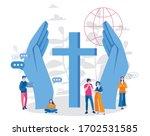 online church. sacred  vector... | Shutterstock .eps vector #1702531585
