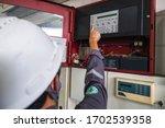 Technician Checking Doing Work...