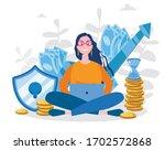 bank deposit. vector... | Shutterstock .eps vector #1702572868