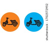 scooter icon vector symbol... | Shutterstock .eps vector #1702572952