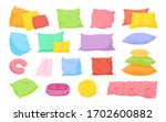 Multi Colored Pillow Flat...