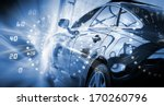 back view of automobile in... | Shutterstock . vector #170260796