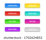 ui buttons. colored trendy flat ... | Shutterstock .eps vector #1702624852
