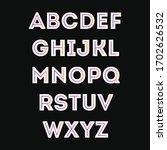 decorative gradient alphabet...   Shutterstock .eps vector #1702626532