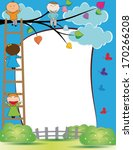 cute kids frame with happy boys ...   Shutterstock .eps vector #170266208