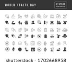 collection of vector black and... | Shutterstock .eps vector #1702668958