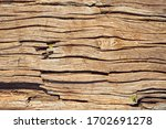 Small photo of Piece of wood, metal that is put across a construction to assemble the elements. We see only part of it. Upton, Quebec, Canada; August 9, 2019.