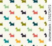 seamless pattern with dog... | Shutterstock .eps vector #170272472