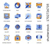 images gallery icons set in...
