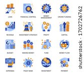 financial management icons set...