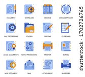 documents icons set in flat...