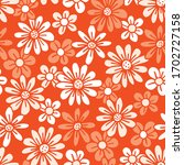 monochrome orange hand drawn...   Shutterstock .eps vector #1702727158