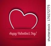 heart from paper valentine's... | Shutterstock .eps vector #170272775